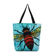 "Art Conspiracy ""Apis"" Bee Eco Canvas Tote by Dallas artist Monica Moody $90"