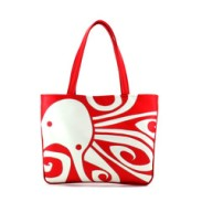 """Ocho"" Octopus Vegan Flat Tote Design by Berkeley Artist Michelle White (Multicolored ) $190"