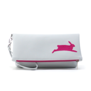 PETA Bunny Vegan Foldover Clutch/Crossbody Bag (Multicolored) from $120